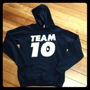 Team 10 black Hoodie Sweatshirt boys XL